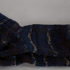 #192 Socken blau-braun. Grösse 38/39. 75% Wolle, 25% Polyamid     28,-€