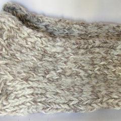 #399 Dicke DICKE Socken beige meliert + Glitzer, 4 Fäden. Grösse 43/44. Polyacryl, Wolle, Baumwolle, Alpaka, Polyamid    38,-€