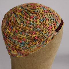 #152 Häkel-Mütze bonbonbunt. Umfang ~ 52 cm. 100% Baumwolle     32,-€