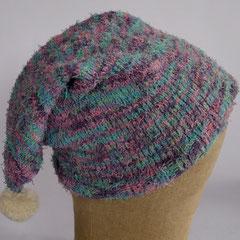 #173 Bommel-Zipfelmütze für kleine Köpfe. Umfang ~ 48-50 cm. Baumwolle und Polyester     32,-€