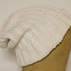 #518 Mütze weiss. Umfang ~ 56 cm. 100% Baumwolle     38,-€