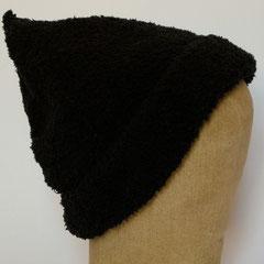 #314 Schwarze Kuschelmütze. Umfang ~ 54 cm. 100% Polyester     42,-€
