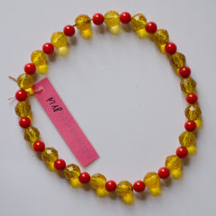 #M18 Glas hellrot & gelb transparent, Länge 24 cm     18,-€