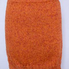 #511 Rock orange. Umfang 86 cm, Länge 43 cm. 50% Leinen, 50% Polyacryl     135,-€
