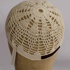 #149 Häkel-Mütze naturweiss, klein. Umfang ~ 50 cm. 100% Baumwolle     32,-€
