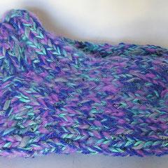 #407 Dicke DICKE Socken türkis, lila, blau, metallic, 5 Fäden. Grösse 36/37. Polyacryl,  Baumwolle, Mohair     38,-€