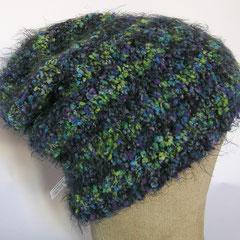 #367 Ringelmütze blau-grün. Umfang ~ 56 cm. 42% Polyacryl, 32% Polyamid, 26% Schurwolle     38,-€