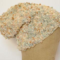 #327 Knötchenmütze. Umfang ~ 53 cm. 55% Baumwolle, 35% Viskose, 10% Polyamid     42,-€