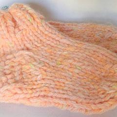 #411 Dicke DICKE Socken rosa, lachs, weiss, grün, 4 Fäden. Grösse 28/29. Polyacryl, Wolle, Mohair     22,-€