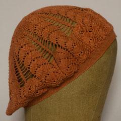 #532 Häkel-Mütze lachsfarben. Umfang ~ 54 cm. 100% Baumwolle     52,-€