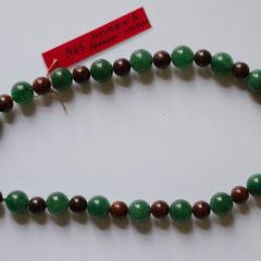 #M65 Aventurin & Mahagoni-Obsidian, Länge 30 cm     28,-€