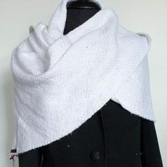 #117 Dreieckstuch weiss. 190 cm breit, 77 cm hoch. 100% Baumwolle     165,-€