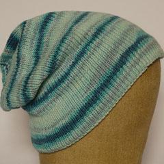 #521 Mütze blauringel. Umfang ~ 55 cm. 96% Baumwolle, 4% Elasthan     48,-€