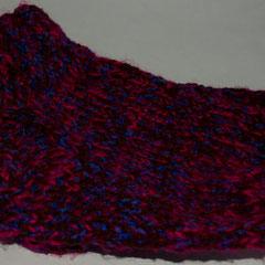 #199 Dicke DICKE Socken pink-blau-braun, 4 Fäden. Grösse 37/38. Wolle, Polyacryl, Mohair      38,-€