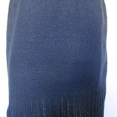 #417 Rock dunkelblau. Umfang 94 cm, Länge 44 cm. 50% Leinen, 50% Baumwolle     145,-€