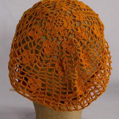 #145 Häkel-Mütze kupfer-orange. Umfang ~ 56 cm. 100% Baumwolle     48,-€
