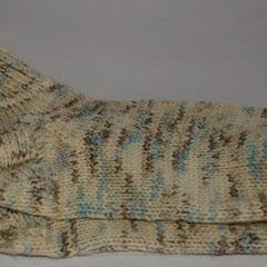 #194 Socken weiss-hellblau. Grösse 41/42. Wolle, Baumwolle, Polyamid     28,-€