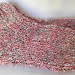 #400 Dicke DICKE Socken rosa + grau, 4 Fäden. Grösse 37/38. Polyacryl, Wolle      38,-€