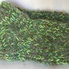 #402 Dicke DICKE Socken hell-, dunkel- und graugrün, 4 Fäden. Grösse 38/39. Polyacryl, Wolle, Baumwolle, Mohair     38,-€