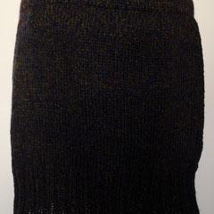#502 Rock dunkelblau-moosgrün meliert. Umfang 80 cm, Länge 37 cm. Wolle und Polyacryl    115,-€