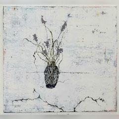 Ronald Zuurmond, STILLEVEN MIT VASE, 2019, 150 x 150 cm, Öl auf Leinwand