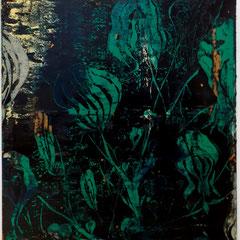 Ronald Zuurmond, WATERPLANT, NOCTURNE (WASSERPFLANZE), 2017/18, 130 x 120 cm, Öl auf Leinwand