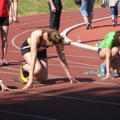 Start zum 100m Sprint