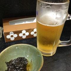 駅前に戻って参りました。行きつけのお店で夕方ビール。最高。