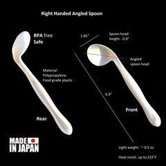 Right handed angled spoon