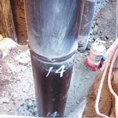 施工状況:鋼管溶接状況