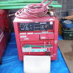 資機材搬入:溶接兼用発電機