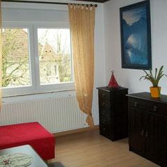 2-Bett-Zimmer mit separatem Wohnzimmer