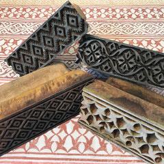 Textildruck Wädenswil Schweiz, handebdruckte Accessoires mit indischen Holzstempel - Block Print