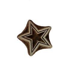 Indische Holzstempel Stern Motiv für Textildruck werden in der Schweiz entworfen und in Indien fair produziert