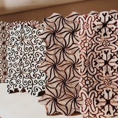 Block Print Stempel für Textildruck, Atelier Wädenswil