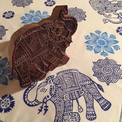 Indische Holzstempel für Textildruck Wädenswil Zürich Schweiz