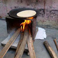 Chapati Feuerstelle