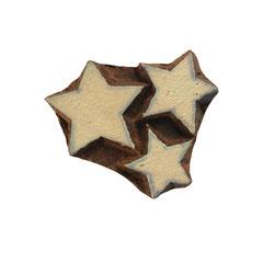 Indische Holzstempel Stern für Textildruck werden in der Schweiz entworfen und in Indien fair produziert