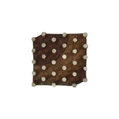 Indische Holzstempel Punkte  Motiv für Textildruck werden in der Schweiz entworfen und in Indien fair produziert