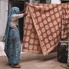 Block Print Workshop Indien, Foto aus Bagru Indien