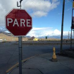 Letzte Pinkel-Pause vor dem Nationalpark.