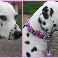 """Gretchen trägt Modell """"Wave"""" in den Farben Lavender, Luxor, Fuchsia und Rose Pink"""