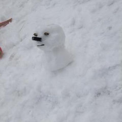 ①「鼻の雪だるま」 ②匿名