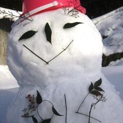 ①「雪だるま2014」 ②雪だるまの達人