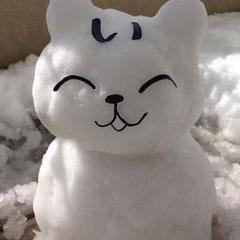 ①「雪にょ中でもにっこりい~にゃん(^v^)」 ②ゆり(町外作品)