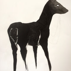 """Deer: Shadow, 28""""h x 22""""w, $1200 AVAILABLE"""