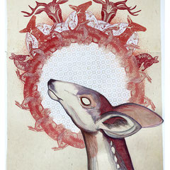 """Doe, Youth, 28""""h x 22""""w, $1600 AVAILABLE"""