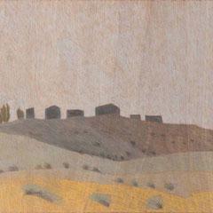 2009, 81x122, Farbstift auf Holz
