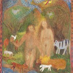 Adam und Eva, 2006, 30x30, Foto: Georg Thuringer