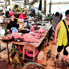 Auf dem Mark Minh Hoa, Frischfleisch
